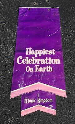 """Disney Parks Outdoor Prop - """"Happiest Celebration On Earth"""" - Banner 47"""" Tall -"""