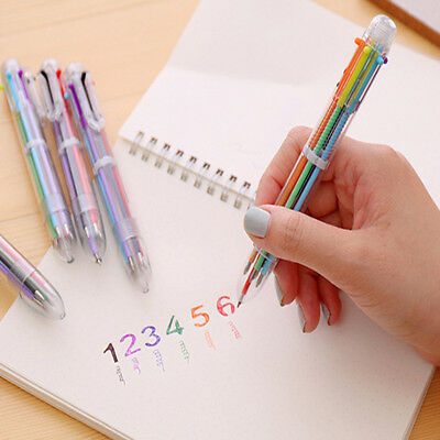 Multi-Colors Ballpoint Pen Ball Point Pens Kids Students School Office Supply