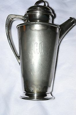 Reed & Barton Silver Plated 64 oz #18 Pitcher Coffee Teapot Engraved C.C. Decant