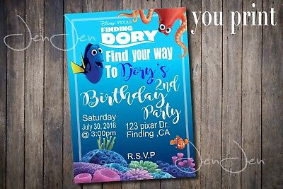 Finding Dory Party Invitation (You Print)
