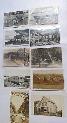 Lot of 10 Real Photo Postcards Only 1 used