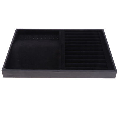 Velvet Schmuck Display Tray Halsketten Ringe Display Tray Showcase mit Haken