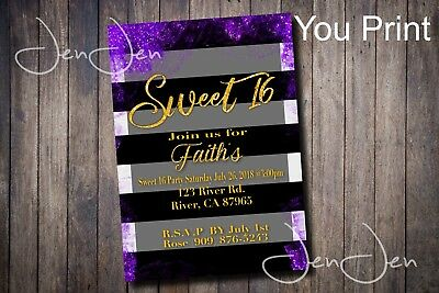 Sweet 16 Party Invitation (You Print)