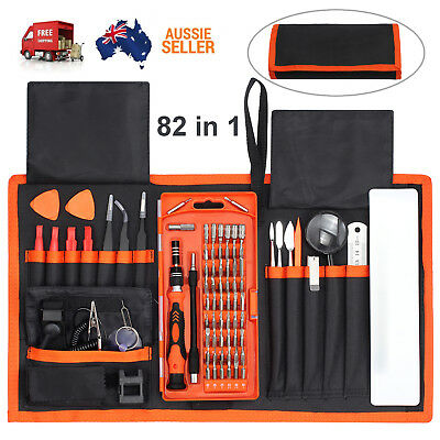 82 IN 1 Repair Tool Kit Precision Magnetic Screwdriver Set Muti 56 Bits AU Stock