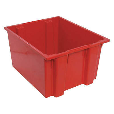 QUANTUM STORAGE SYSTEMS Nest and Stack Container,23-1/2 in L,Red, SNT230RD, Red