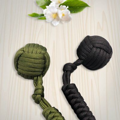 Security protecting Monkey Fist Self Defense Multifunctional Key Chain 0A6