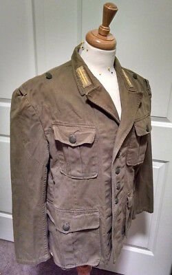 Reproduction German WW2 first pattern DAK Tropical Tunic size 40R AGED!