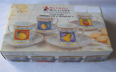 Maxwell & Williams Pastel fruits porcelain Espresso cup and saucer set