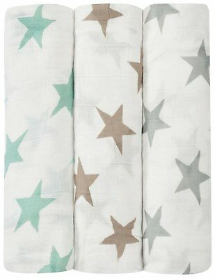 BNIB aden and anais silky soft 3 pack swaddles - Milky Way