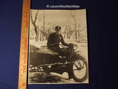 1920's Print Policeman  Vintage Motorcycle Sidecar Indian Police Bike Motocycle