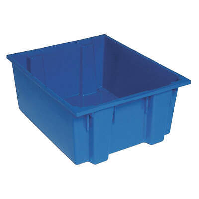 QUANTUM STORAGE SYSTEMS Nest and Stack Container,23-1/2 in,Blue, SNT225BL, Blue