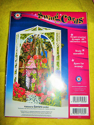 Santoro London Interactive 3D Swing Cards (Sc03) Gazebo & Flowers