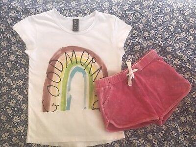 Minti Girls Shorts And Tee Set Size 6