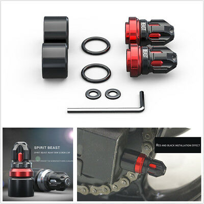Pair High Quality Aluminum alloy+Stainless steel Motorcycle Rear Trim Screw Cap