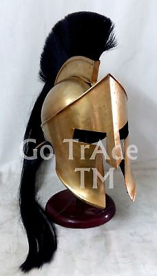 Greek Corinthian Halloween  Helmet Brass Antique Plume Medieval Knight Replica