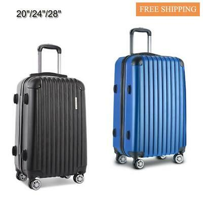 """Lightweight ABS Luggage Suitcase Retractable Trolley 20""""/28"""" Secure Code Lock"""