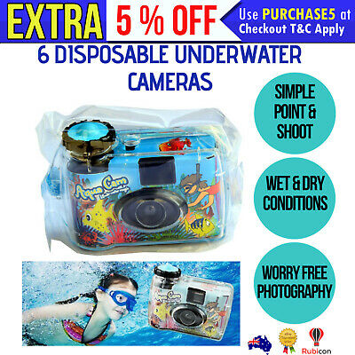 6 WET DRY Disposable 36exp CAMERA Waterproof Bridal Underwater Wedding holiday