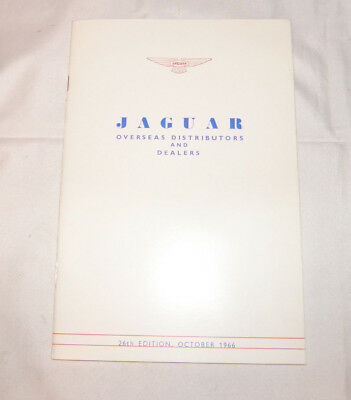 1966 Jaguar Overseas Distributors Dealers Catalog Brochure