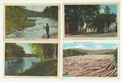 Great Lot Of 4 New Brunswick, Canada Vintage Postcards