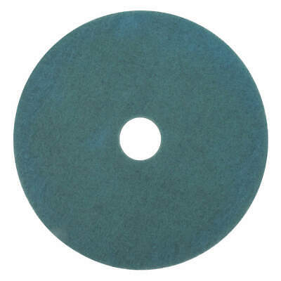 3M Non-Woven Nylon/Polyester Fiber Burnishing Pad,21 In,Aqua,PK5, 3100, Aqua