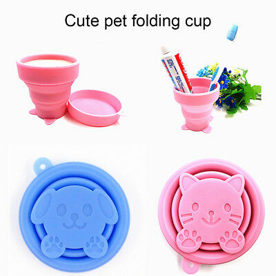 2Color Cute Silicone Folding Cup Outdoor Camping Telescopic Collapsible Travel d