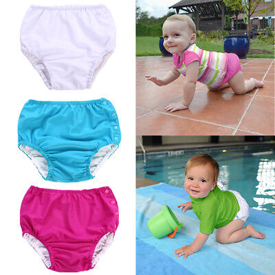 AU Swimsters Reusable Pants Diaper Baby Toddler Boys Kids Girl Unisex Solid Swim