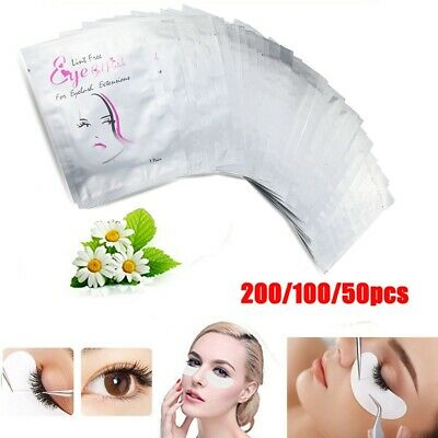 200 Pairs Eyelash Extensions Pads Under Eye Patches Lint Free Eye Gel Pad Makeup