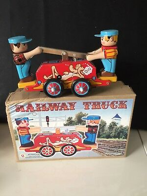 Collectable Tin Toy Wind Up Railroad Men