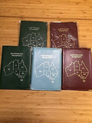 5 Vintage Australian Passport Covers 2005