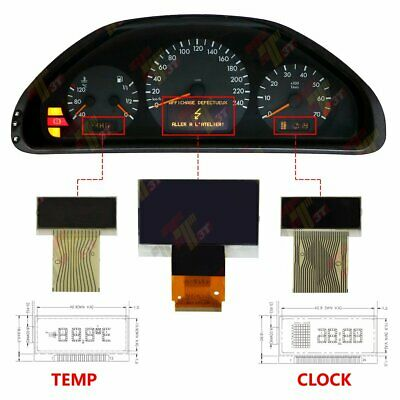 Mercedes-Benz E/CLK-class W210 W202 1998-2002 Left Instrument Cluster Display