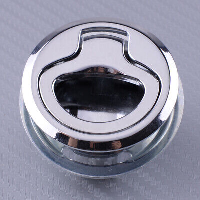 45mm Silver Marine Boat Flush Pull Slam Latch Mount Hatch Lift