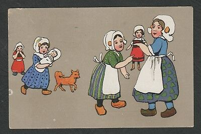 e2126)    EARLY 1900's  POPULAR SERIES PC GLAD GREETING & BEST WISHES HAPPY XMAS