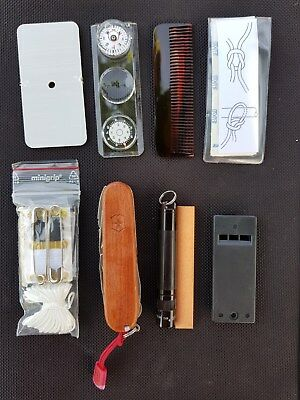 Victorinox Schweizermesser Swiss Army Knife Survival-Kit+Craftsman wood 45 func.