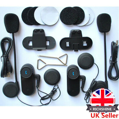 UK BT 1000M Interphone Bluetooth Motorbike Motorcycle Helmet Intercom FM Headset