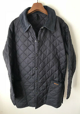 Barbour Liddesdale Quilted Jacket! Mens M/l! Black! Coat! 44-46 Chest!