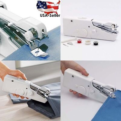 Handy Mini Portable Electric Tailor Stitch Hand-held Sewing Machine Home Travel