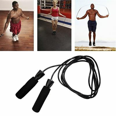 Aerobic Exercise Boxing Skipping Jump Rope Adjustable Bearing Speed Fitness 9v