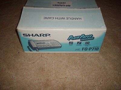 sharp plain paper facsimile model FO-P710 ex demo no manual