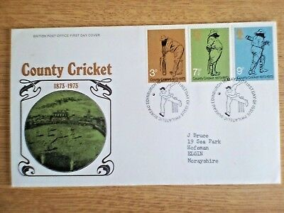 GB First Day Cover, 1973 May - County Cricket