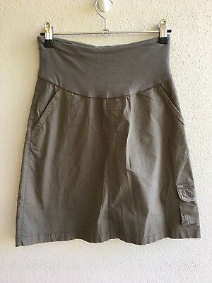 Ninth Moon Size 6 BNWT Khaki Cargo Maternity Skirt Cotton/Spandex