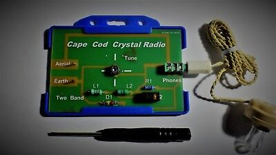 Cape Cod Credit Card  Crystal Radio  DIY KIT Schools, scouts science fairs.