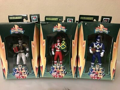 Power Rangers: Mighty Morphin Christmas Ornaments Complete Set Rare Find
