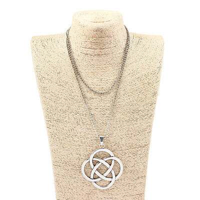 1Pcs Antique Silver Celtic Knot Pendant Flower of Life Charms Jewelry Necklace