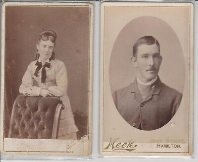 PHOTOS CDVs MEEK hamilton vic 1884 & MATTHEWS McGILL geelong  rare unknown 1880c