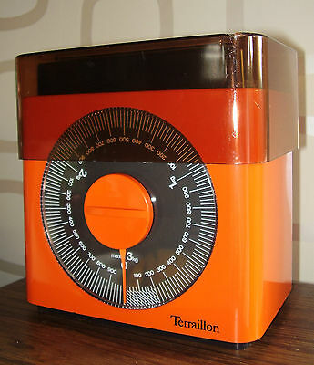 BALANCE DE CUISINE TERRAILLON ORANGE VINTAGE DESIGN POP 70's KITCHEN SCALE