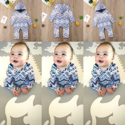 Infant Baby Girls Boy Kids Long Sleeve Romper Jumpsuit Outfits Clothes One-Piece