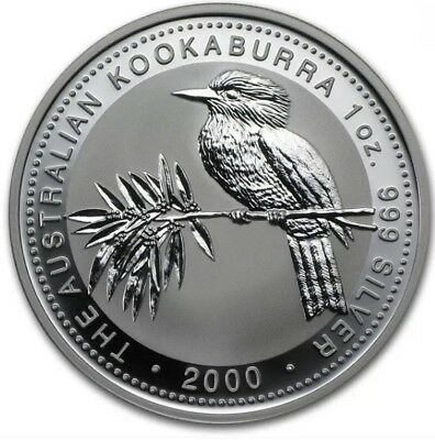2000 1oz Australian Kookaburra Silver Bullion Perth Mint Coin In Capsule