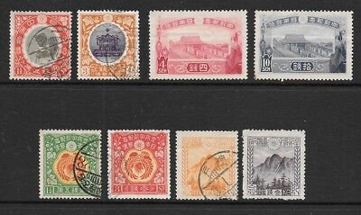 JAPAN 1915-23 Pictorals Mint and Used Issues Selection (Aug 009)