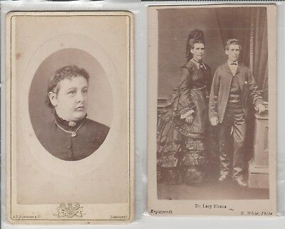 PHOTOS CDVs ''  A E BURROWS & CO SANDHURST 1881 rare  & NICHOLAS WHITE sandhurst