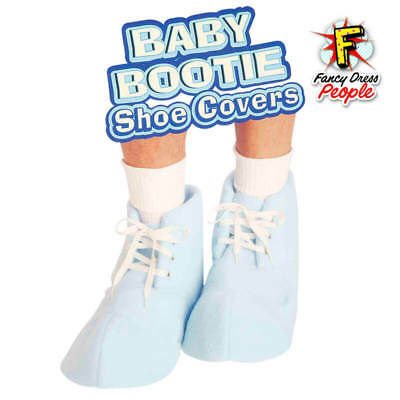 Baby Booties Blue Boot Shoe Covers Adult Costume Baby Shower Accessory
